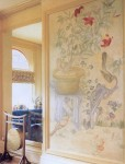 Wall mural on canvas. Residence of Erica Ehm. Project by Kimberley Seldon Design Group.