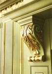Gold leaf and antique glaze. Project for Taylor Hannah Architects.