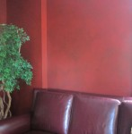 Parchment glaze wall finish. Stern Residence.
