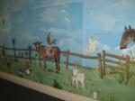 Farm mural, Hillcrest School.
