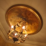 Gold leaf small dome. Rusnak residence.