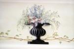 Planted urn trompe l'oeil.