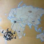 Map of the world ceiling treatment. Rusnak residence.