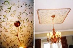 Handpainted ceiling medallion. Project by Jackie Lamey Design.