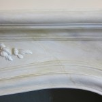 Faux marble on a plaster fireplace. Residence of Zan and Cynthia Stern.