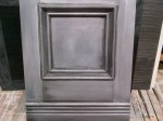 Silver with black glazing for furniture or cabinetry. Recent sample.