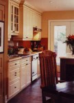 Antique glazed kitchen cabinets. Residence Artists home.