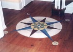 Compass rose floor. Paula and Bill Roberts residence.